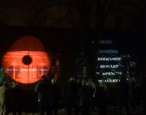 Luxmuralis St Annes Remember Poppy Projection