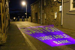 Luxmuralis St Ives Caution Bank Sign