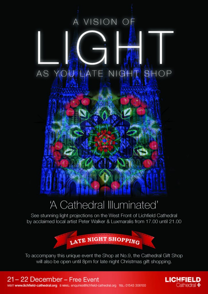 luxmuralis peter walker sculptor david harper music _A CATHEDRAL ILLUMINATED_POSTER_D