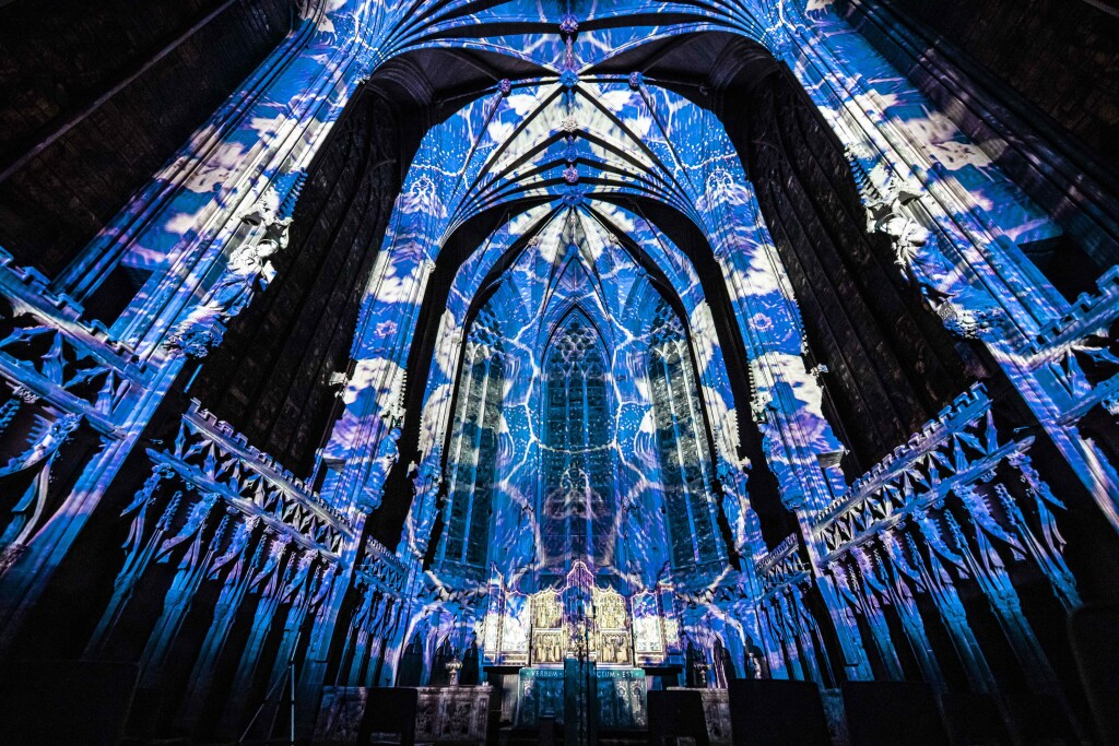 the laboratory luxmuralis Science at Lichfield Cathedral PHoto D Harper